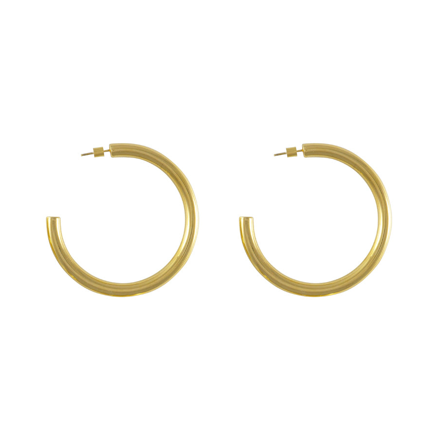Faye XL Gold Hoop Earrings