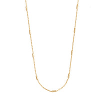 Beaded Bar Chain Gold Necklace - Wanderlust + Co