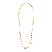 Double Toggle XL Chain Link Gold Necklace - Wanderlust + Co
