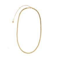 Edie Snake Chain Gold Necklace - Wanderlust + Co