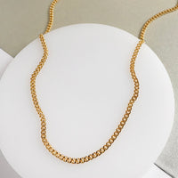 Romee Curb Chain Gold Necklace - Wanderlust + Co