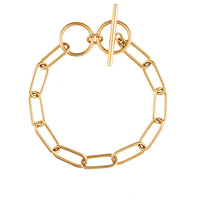 Toggle XL Chain Link Gold Bracelet - Wanderlust + Co