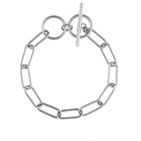 Toggle XL Chain Link Silver Bracelet - Wanderlust + Co