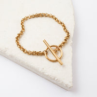 Cara Gold Toggle Bracelet - Wanderlust + Co