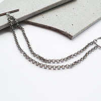 Cara Silver Layered Toggle Bracelet - Wanderlust + Co