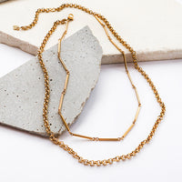 Zoe Gold Layered Necklace - Wanderlust + Co
