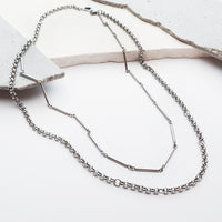 Zoe Silver Layered Necklace - Wanderlust + Co