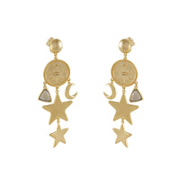 Aleya Gold Earrings - Wanderlust + Co