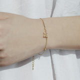 Aquarius Zodiac Gold Bracelet