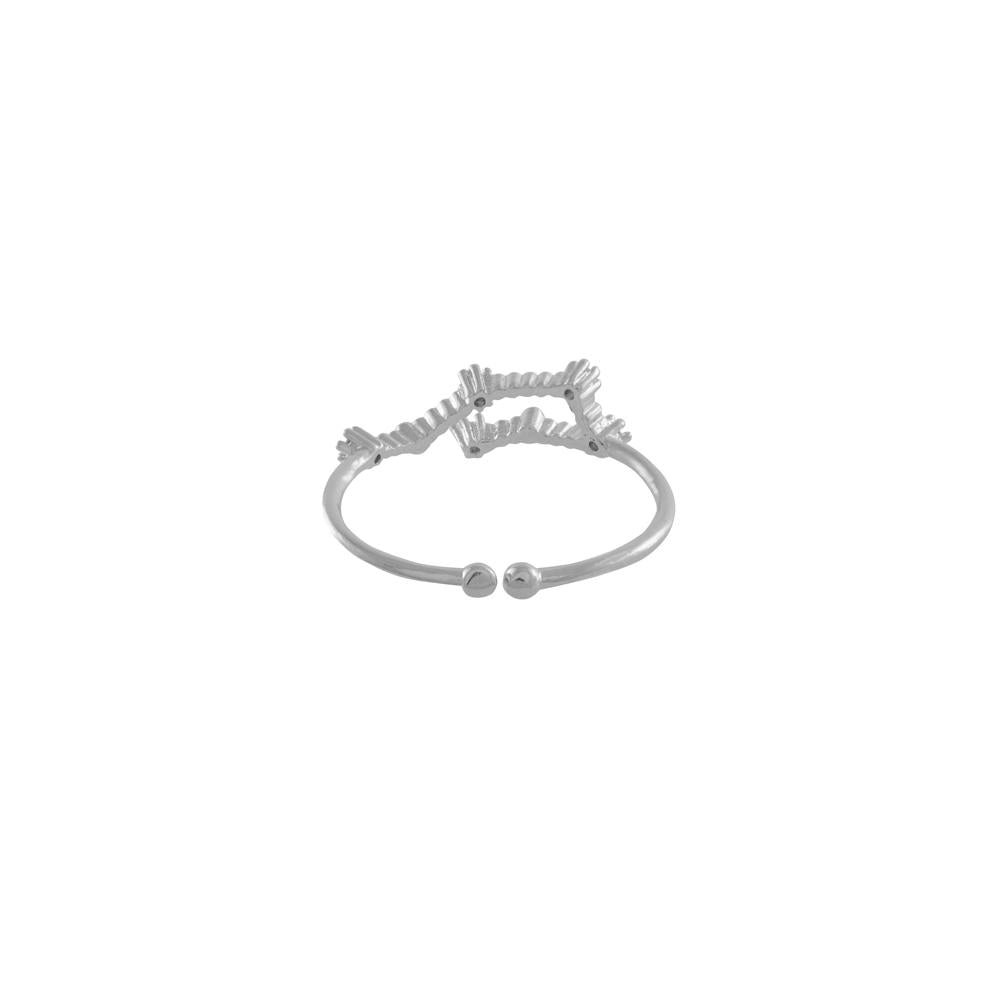Aquarius Zodiac Silver Ring