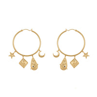Astra Gold Hoop Earrings