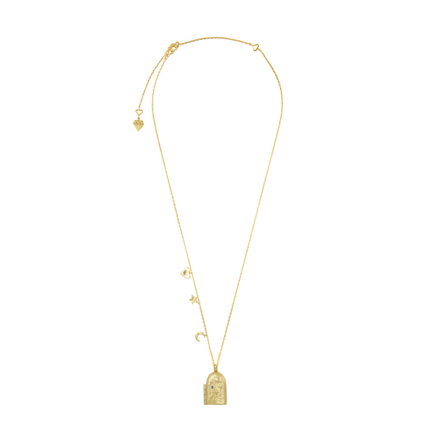 Astra Gold Locket Necklace