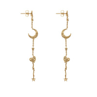 Astra Gold Multi Drop Earrings