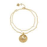 April Birthstone Gold Bracelet