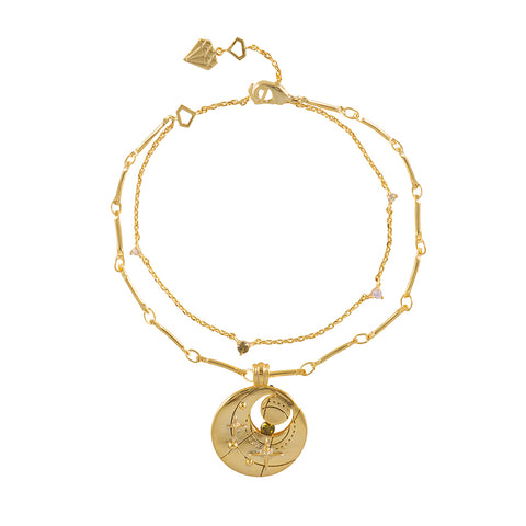 August Birthstone Gold Bracelet