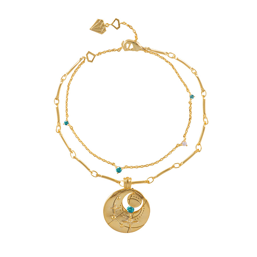 December Birthstone Gold Bracelet