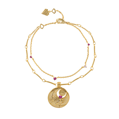 July Birthstone Gold Bracelet