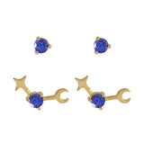 September Birthstone Gold Earrings