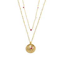 July Birthstone Gold Necklace - Wanderlust + Co