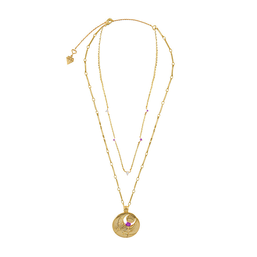June Birthstone Gold Necklace