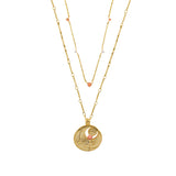 November Birthstone Gold Necklace