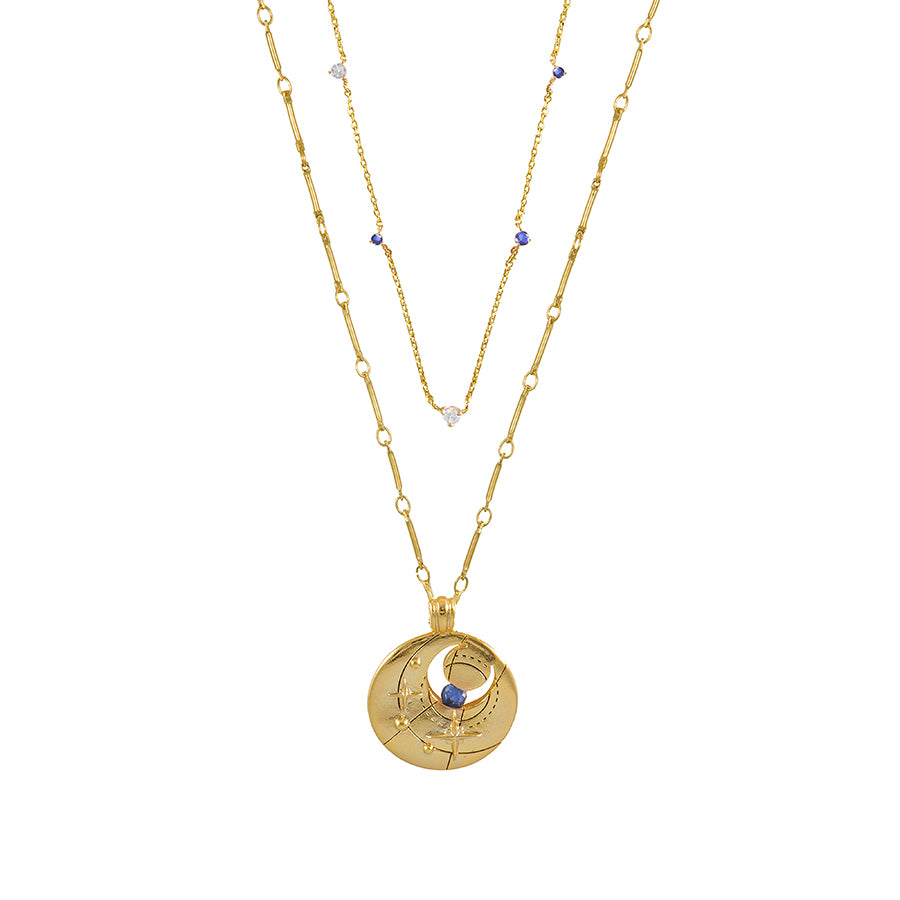 September Birthstone Gold Necklace