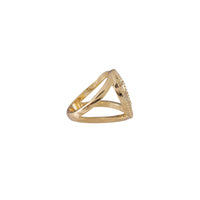 August Birthstone Gold Ring