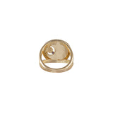 February Birthstone Gold Ring
