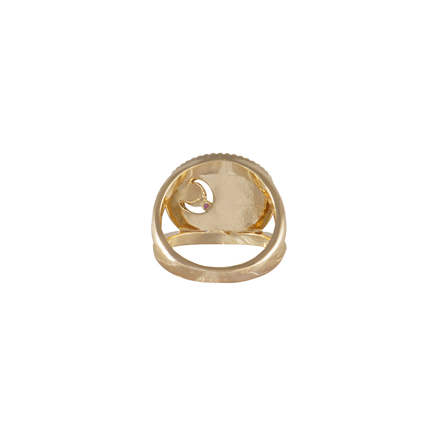 January Birthstone Gold Ring