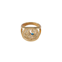 March Birthstone Gold Ring