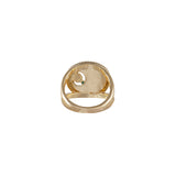 May Birthstone Gold Ring