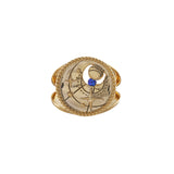 September Birthstone Gold Ring
