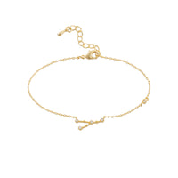 Cancer Zodiac Gold Bracelet - Wanderlust + Co