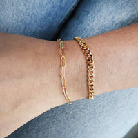 Romee XL Curb Chain Gold Bracelet