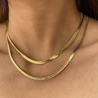 XL Edie Snake Chain Gold Necklace