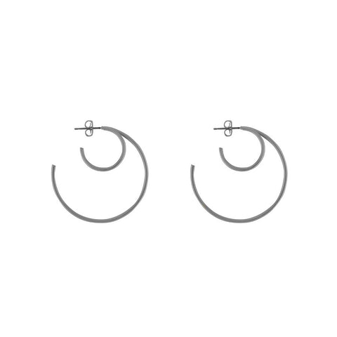 Cirque Hoop Silver Earrings