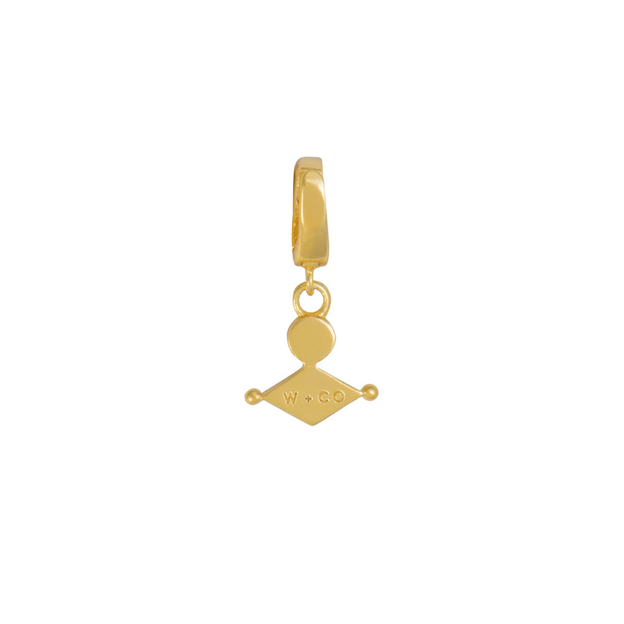 Clarity Gold Charm