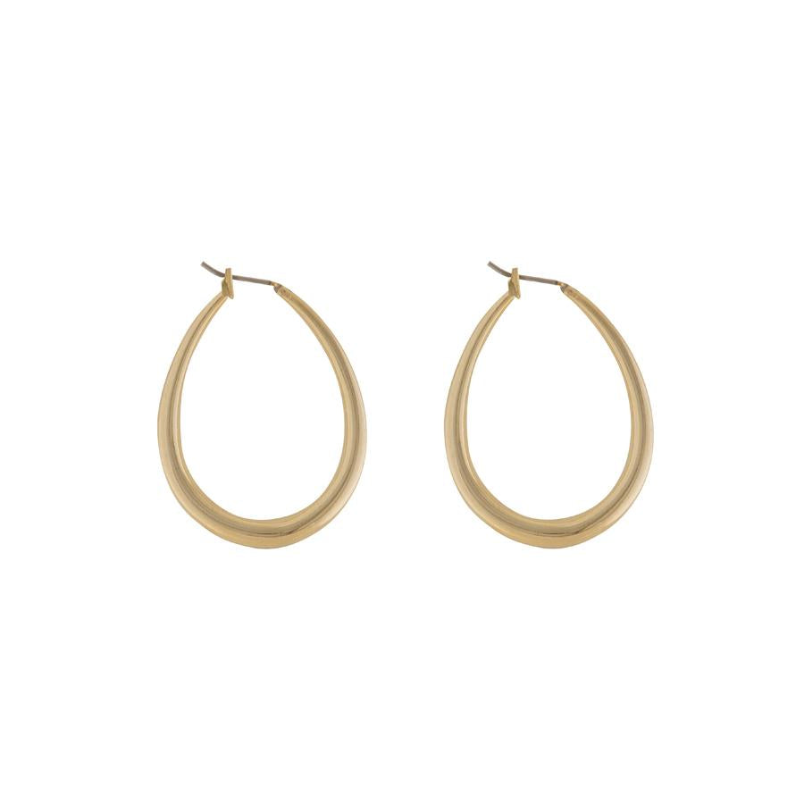 Cora Oval Gold Earrings