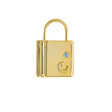 Crescent Lock Gold Charm