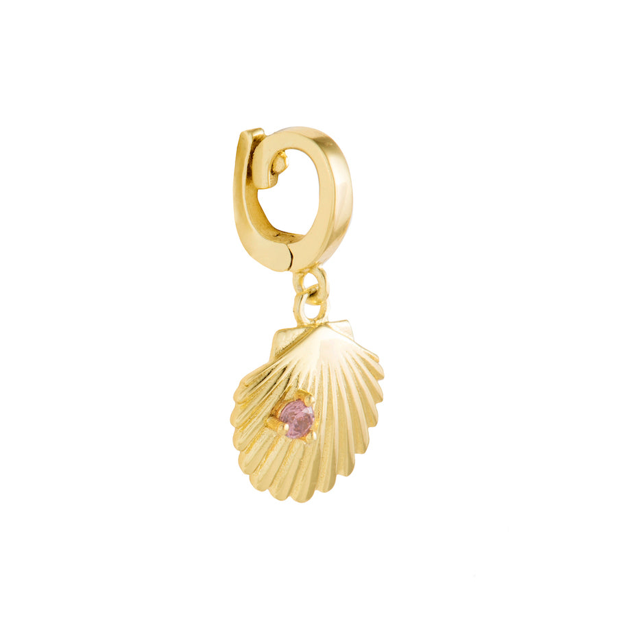 Scallop Gold Charm