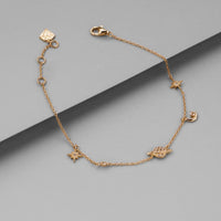 Drops of Saturn Gold Sterling Silver Bracelet