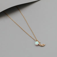 Drops Of Saturn Gold Sterling Silver Necklace - Wanderlust + Co