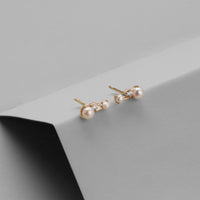 Milky Way Gold Sterling Silver Earrings