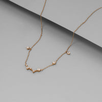 Starry Skies Gold Sterling Silver Necklace