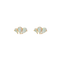 Moonbeam Trio Gold Sterling Silver Earrings