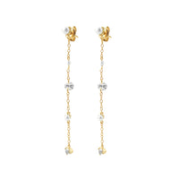 Dancing in the Moonlight Gold Sterling Silver Earrings