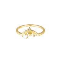 Drops of Saturn Gold Sterling Silver Ring - Wanderlust + Co