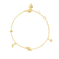 Drops of Saturn Gold Sterling Silver Bracelet - Wanderlust + Co