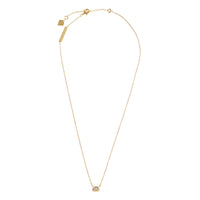 Topaz Baguette Gold Sterling Silver Necklace