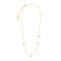 Aurora Gold Gem Necklace